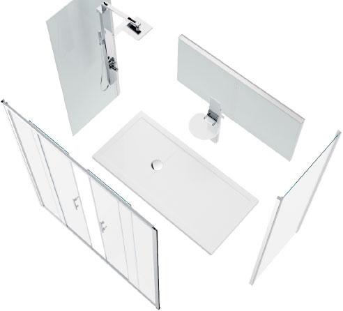 Een bad vervangen door een douche - Novellini - nl