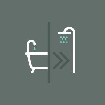 kwart rond bad onderdelen